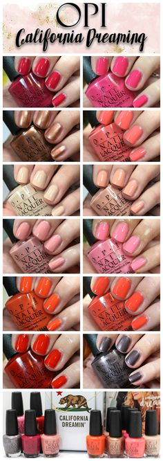 OPI California Dreaming Nail Polish Collection // Summer Manicure Trends