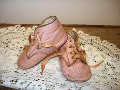Vintage Pink Baby Shoes - I have mine on one of my Christmas trees, one from each one of my kiddos too