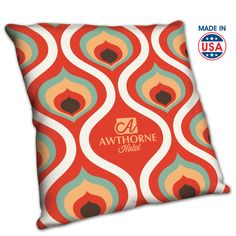 Sublimation printing makes these pillows as fashionable as you want, while still giving you the opportunity to advertise for your brand. Available in three sizes.