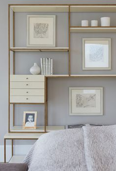 26 Best Ideas for bedroom storage wall Bedroom Storage, Bedroom Wall, Bedroom Bookshelf, Wall Storage, Modern Bedroom Furniture, Home Decor Furniture, Home Interior Design, Interior Architecture, Apartment Needs