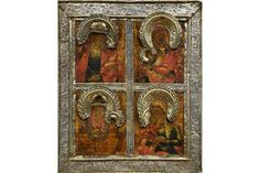 Bid Live on Lot 425 in the Art, Antiques, Collectibles Auction from Auktionshaus J. Religious Art, Christian, Icons, Traditional, Antiques, Russia, Auction, Antiquities, Antique