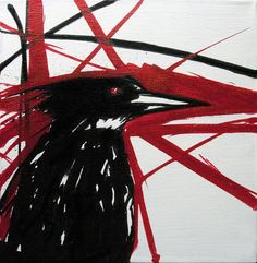 """KingFisher"" 12""x12""x1"" $175 Original art, no reproductions"