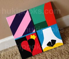 SALE Modern Abstract Alice in Wonderland Painting, Acrylic on Canvas, Child's Room, Animated Classic - Herbst-Outfits Disney Canvas Paintings, Simple Canvas Paintings, Canvas Art, Alice In Wonderland Paintings, Alice In Wonderland Crafts, Disney Crafts, Disney Art, Painting Edges, Diy Painting