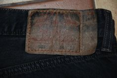 Made In USA Vintage Levis 501 Red Tab Denim Jeans Straight Black Grey W 34 L 32