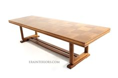 Art Deco Oak Rectangular Dining Table by ERA Interiors Custom Dining Tables, Oak Dining Table, Product Design, Grid, Architecture Design, Art Deco, Interiors, House, Furniture