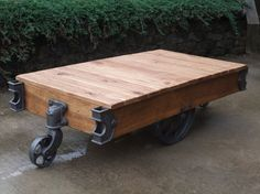 Vintage Factory Cart Coffee Table by chadroberts on Etsy, $650.00