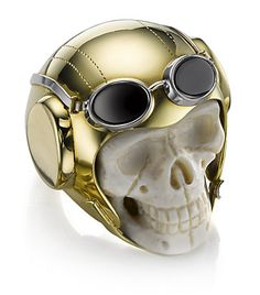 Theo Fennell Lost Flyer Skull Ring