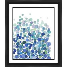 Watercolor Blue Pearls Framed Giclee Print