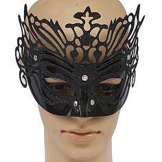 PVC preto Festa Rainha da máscara -
