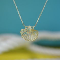 delicate shell necklace