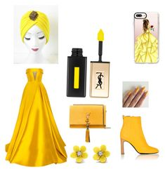 """""""Yellow wedding"""" by elenaanais on Polyvore featuring Casetify, Alex Perry, rag & bone, Yves Saint Laurent and WithChic"""