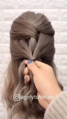 SUPER EASY HAIR TUTORIAL - #super #tutorial - #HairMakeupVideos