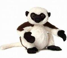 WEBKINZ-SIFIKA-LEMUR-HM638-NEW-RARE-HTF-adorable-African-primate-monkey-ape