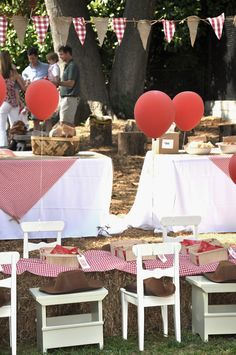 CAKE. | events + design: real parties: red & rustic country farm.... like the gingham and burlap banner