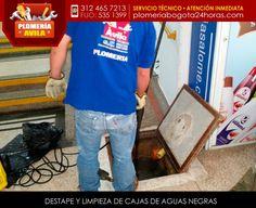 DESTAPE DE CAJAS DE AGUAS NEGRAS Con nuestros equipos de trabajo realizamos destapes de tuberías de cajas de aguas negras. También realizamos la respectiva evaluación técnica, reparación y limpieza de las cajas.