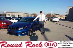 https://flic.kr/p/DMLKbm | Happy Anniversary to David  on your #Kia #Optima from Greg Galindo at Round Rock Kia! | deliverymaxx.com/DealerReviews.aspx?DealerCode=K449