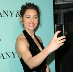 Pin for Later: 66 Celebrity Selfies That Don't Even Need a Filter  Jessica Biel got snap happy in NYC in April 2014 when she took a picture of herself on the red carpet.