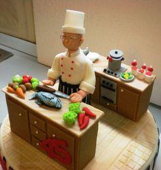 Chef cake.