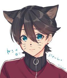 Paladin, Cute Anime Boy, Anime Guys, Blue Hair Anime Boy, Mutsunokami Yoshiyuki, Neko Boy, Cutest Couple Ever, Anime Child, Hunter Anime