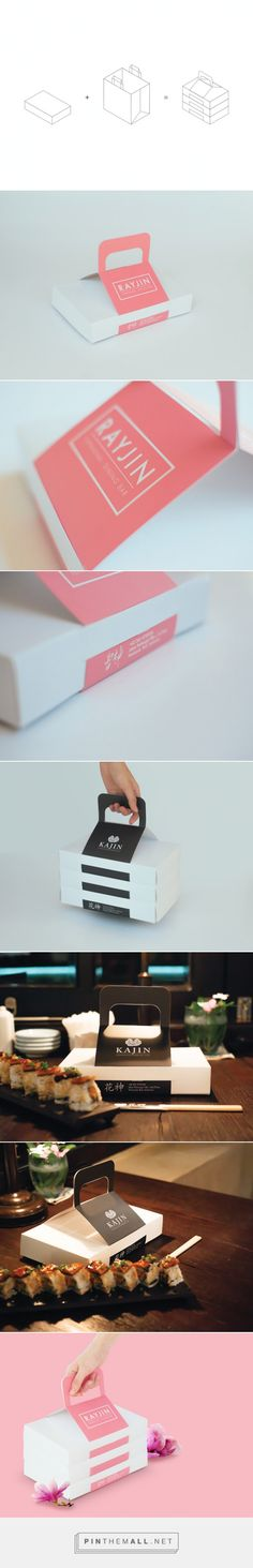 Kajin & Rayjin Takeaway Box Packaging of the World - Creative Package Design Gallery - http://www.packagingoftheworld.com/2015/07/kajin-rayjin-takeaway-box.html