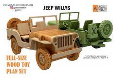 Jeep Willys & Trailer Plan set