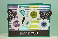 Striped Thank You Card by Erin Lincoln for Papertrey Ink (April 2014)