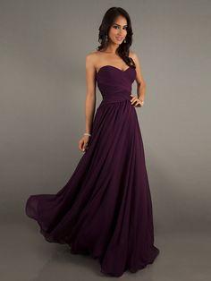 Bridesmaid dress plum puple