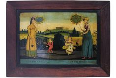 This is cool - Antique Reverse Glass Painting