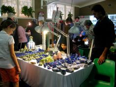 Vic and Sehire had a huge collection of lapis lazuli and other gemstones for sale.