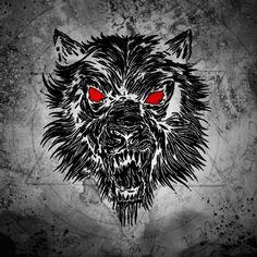 un loup diabolique !