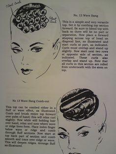 How to make Vintage Wave Bangs / Pin Curls - Hair Tutorial