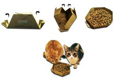This Pet Food Packaging Design Unfolds into a Handy Bowl #pets trendhunter.com
