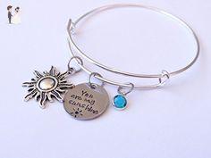 You are my sunshine Bracelet, your my sunshine jewelry, best friend jewelry, best friend bracelet - Wedding bracelets (*Amazon Partner-Link)