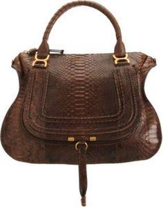 71dd00012a6 Chloé Python Marcie Large Satchel Chloe Bag, Fashion Bags, Fashion Outfits,  Womens Fashion