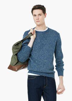 Pullover melangiato cotone - Pullover da Uomo | MANGO