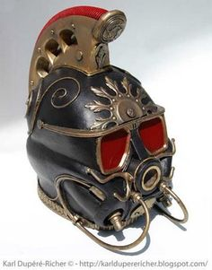 fire soldier helmet By Karl Dupéré-Richer #sculpture #steampunk #outfit
