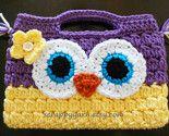 crochet owl purse   no pattern