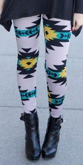Gray Aztec Print Leggings just $13.99!!