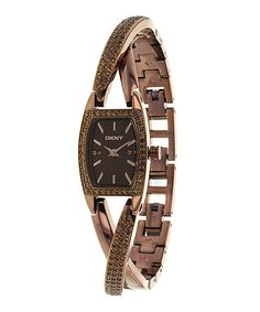Take a look at this DKNY Brown Twisted Watch on zulily today!
