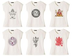 Vietsbay Women'S Ganesh Printed Cotton T-Shirt Wts_02