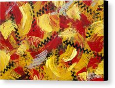 Industrial Abstract Painting IIi Canvas Print by Christina Rollo.  All canvas…