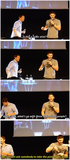 [gifset] Jensen and selfie sticks