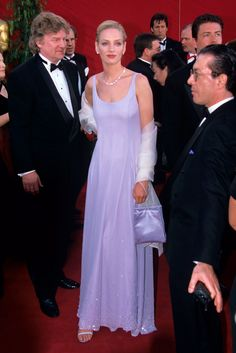 Uma Thurman - most iconic red carpet dresses of all time
