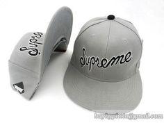 521ca512a10 Cheap Wholesale Supreme Flat Snapback Hats Adjustable Cap Fashion Snapback  Gray for slae at US 8.90