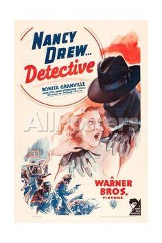 Nancy Drew: Detective, Bonita Granville on poster art, 1938 Movies Art Print - 41 x 61 cm