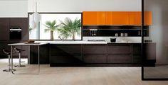 Kitchen w/ orange accents