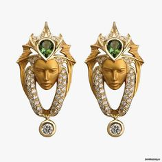 Magerit Earrings from the Atlantis collection