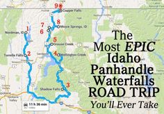 The Most Epic North Idaho Waterfalls Road Trip Is Here — And You'll Want To Do It idaho waterfalls roadtrip usa usroadtrip ustravel 569353577893625133 Oh The Places You'll Go, Places To Travel, Nevada, Us Road Trip, Le Far West, Roadtrip, Future Travel, Coeur D'alene, Travel Usa
