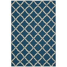 Nourison Portico Indoor/Outdoor Classic Patterned Area Rug, Blue