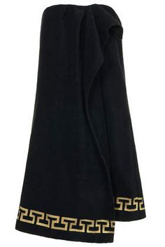 Black **Grecian Towelling Wrap Dress Cover Up by ASHSH X Topshop $90